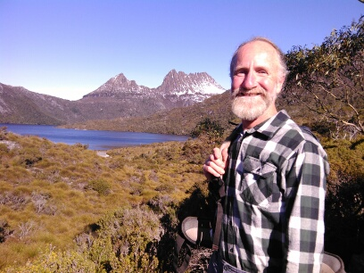 Greg at Cradle Mtn