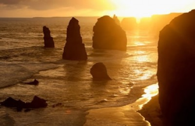 Great Ocean Walk - sunset over the 12 Apostles