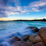 Looking across the Bay of Fires - Image credit to Tourism Tasmania and and Andrew McIntosh, Ocean Photography