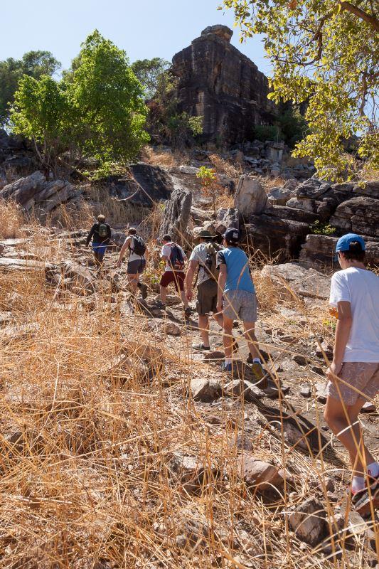 Park Trek Arnhem Land and Kakadu five-day walking tour - Hiking up Injalak Hill