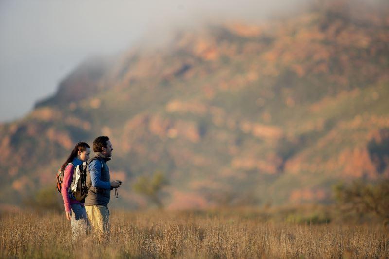 Flinders Ranges Walking Tour with Park Trek - Hikers enjoying the Flinders Ranges late in the day