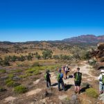 Flinders Ranges Walking Tour with Park Trek - Hikers by a rocky outcrop