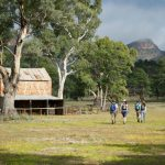 Flinders Ranges Walking Tour with Park Trek - Hikers walking past an old homestead