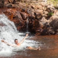 Enjoy a splash at Buley Rock Holes in Litchfield National Park