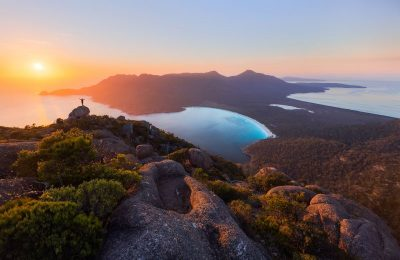Sunrise at Wineglass Bay - Photograph by Daniel Tran