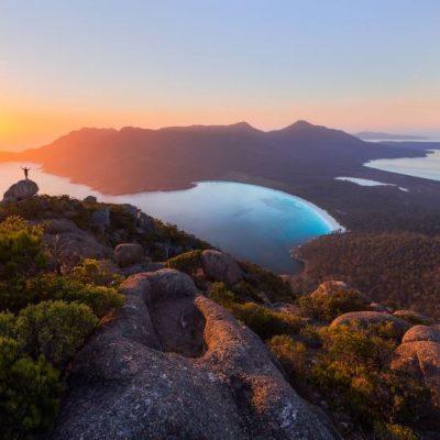 Sunrise at Wineglass Bay - Photograph by Daniel Tran