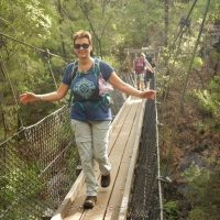 Bibbulmun Walking Track - Crossing a scenice foot bridge