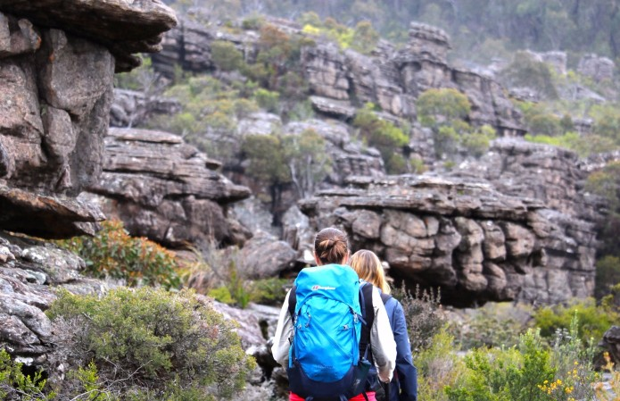 Two hikers in the grampians - Eco Walking Tour