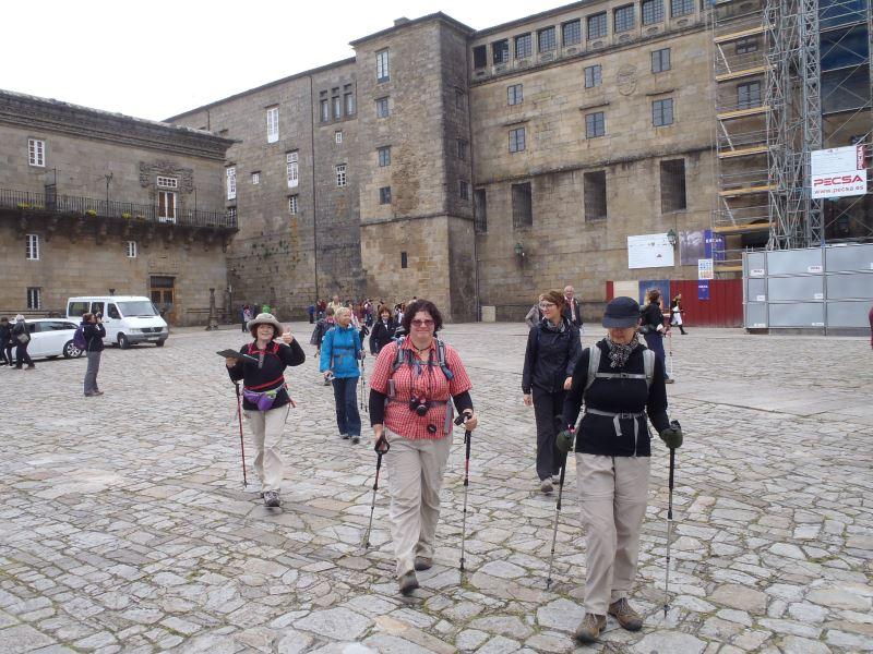 Adventurous Women setting off on their Portuguese Camino Walking Tour