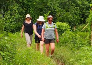 Women trekking in Fiji