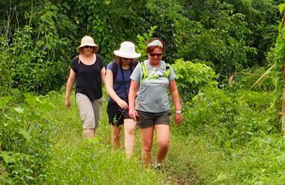 Women trekking in Fiji