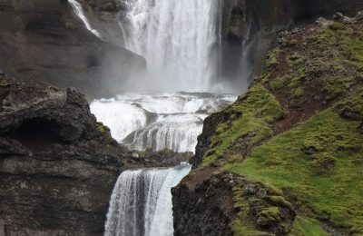 Beautiful waterfall in Iceland