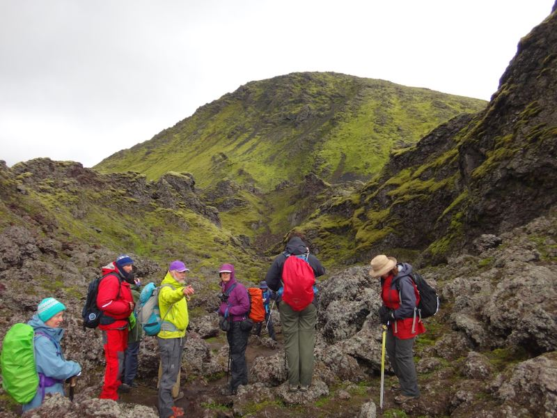Group of Trekkers in Iceland