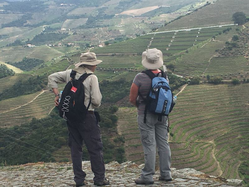 Portugal Duoro Valley Walking Tour - Hikers enjoying the Duoro Valley scenery