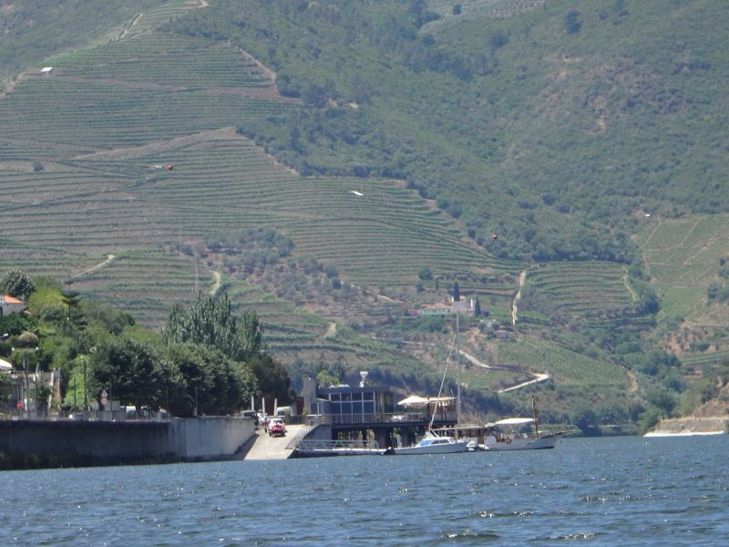Portugal Duoro Valley Walking Tour - On the river with the hills in the background