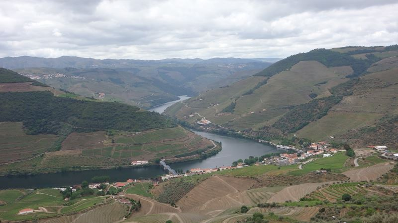 Portugal Duoro Valley Walking Tour - View of the village from the river