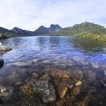 View of Cradle Mountain in the distance