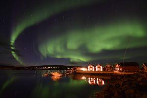 arctic norway hiking - northern lights